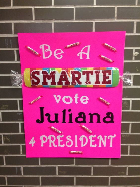 Student council election poster.: