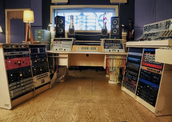 Custom Monitor Mount Sound Recording Studio Design