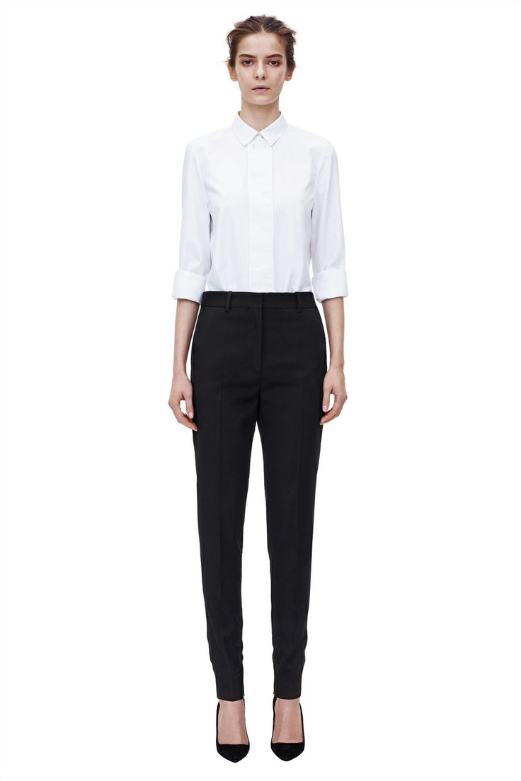 Straight leg trouser from Pre AW2014 Ready to Wear Victoria Beckham's collection. #BoFCareers #outfit #style #fashion