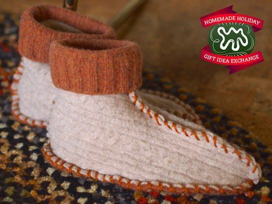 Make this Homemade Holiday Gift: Slippers Made from Thrifted Sweaters — HOMEMADE HOLIDAY GIFT IDEA EXCHANGE: PROJECT #19 | Apartment Therapy