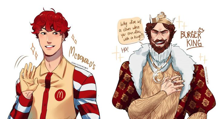 Ever wondered how fast food brands would look like if they were human? A Philippines-based illustrator who goes by alias Ozumii Wizard brings KFC, McDonald's, Wendy's, Jolibee, and Burger King to life in her Japanese manga-style digital art. More info: Facebook, DeviantArt (h/t: designtaxi)