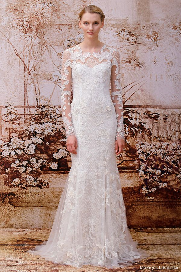 Monique Lhuillier Fall 2014 Wedding Dresses | Wedding Inspirasi