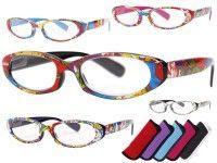 Alsino Lesebrille oval Lesehilfe Augenoptik Brille Sehhilfe mit Stärke