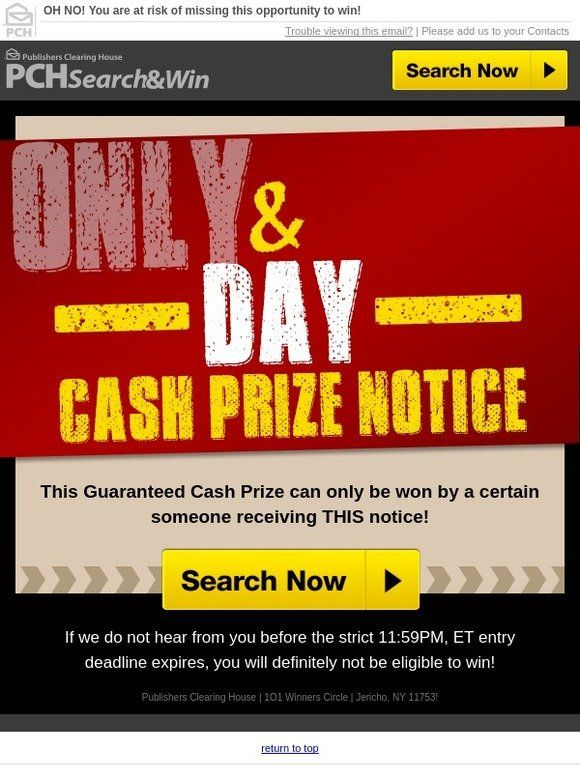 Milled Has Emails From Publishers Clearing House Including New