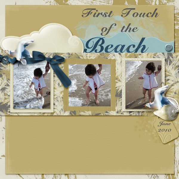 made using the kit She Sells Sea Shells by Art for Scrapbooking