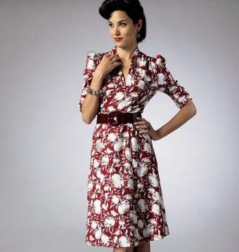 Butterick - B5951 patroon jaren 50 jurk | Naaipatronen.nl | zelfmaakmode patroon online