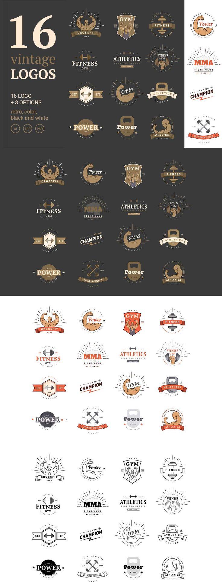 I Love This '16 #Vintage #Sport #Logos'  #gym #club #psd