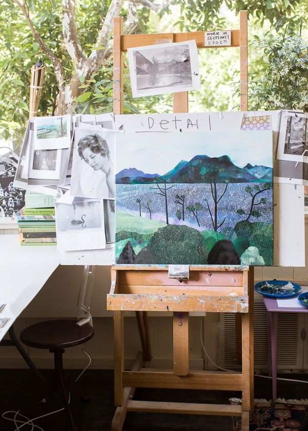 The home studio of Melbourne artist Sally Ross.  Photo – Sean Fennessy