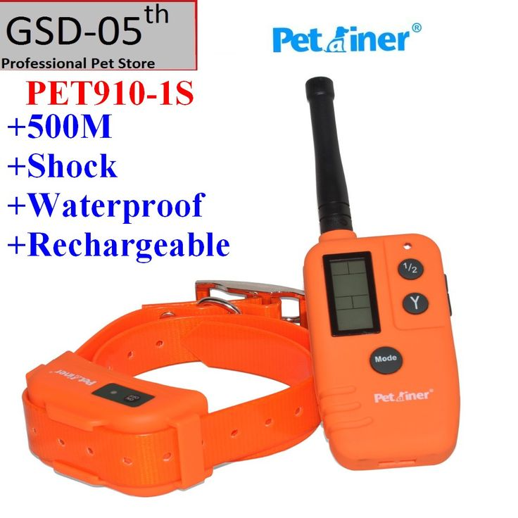 Pet Dog Training Collar Blue LCD Electric Remote Rechargeable Waterproof Hunter Dog Training Shock Collar Only PET910-1S
