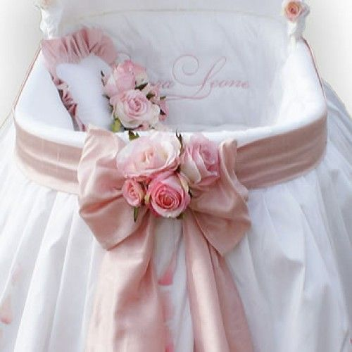 Bassinet Covers for Girls | Pink Rose Petals Bassinet