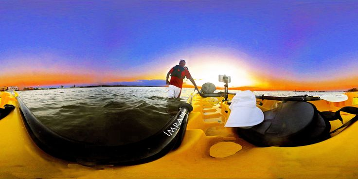 https://flic.kr/p/TbjDoU | Kayaking And Soaking In Rising Full Moon & Stunning Setting Sun At Tampa Bay Florida In Full 360° - IMRAN™ | The weekend was magnificent for boating, sailing and jet-skiing on Tampa Bay Florida. But Monday ended up looking even more perfect with absolute tranquility on the water.  I was in the middle of a lot of phone conversations so had to skip taking the jet ski out again today, though I had left it uncovered yesterday, expecting to use it today.  Finally done…