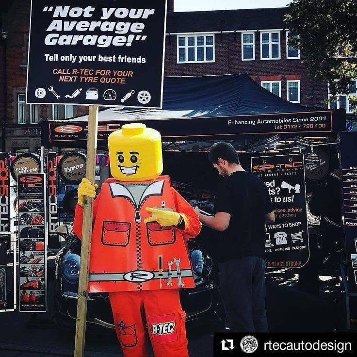 Ha! Lego Man we helped to design makes another appearance this weekend at the #StAlbans Car Show. #Repost @rtecautodesign - Not your average garage #rtec #rtecautodesign #stalbansmotorshow #legortec