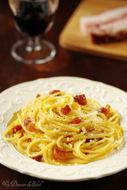 Spaghetti à la carbonara, les vrais