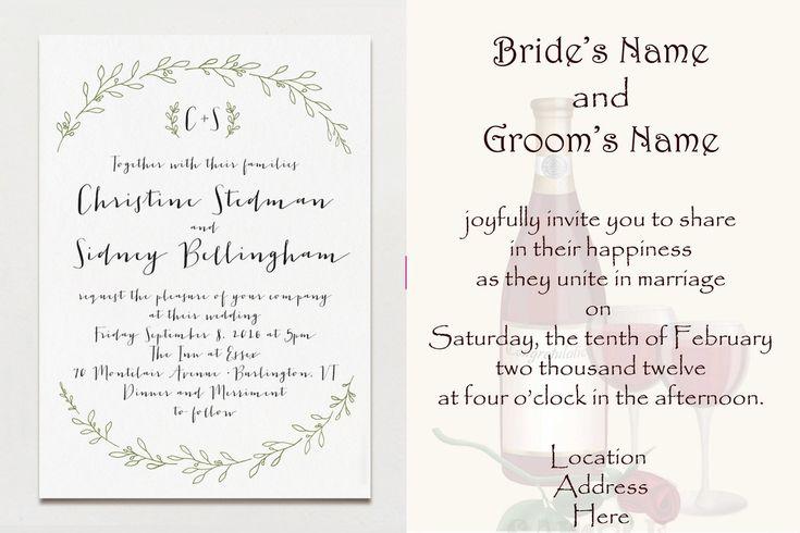 Online Wedding Invitation Wordings: 22 Best Wedding Wordings Images On Pinterest
