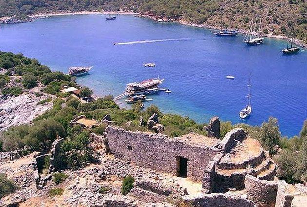 2.Day, Oludeniz, Gemiler Island, private yacht rental, www.barbarosyachting.com