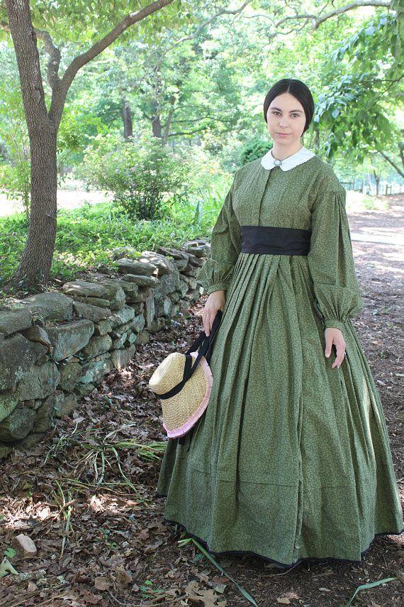 Green Civil War Day Dress | Historical Belle in 2019 | Civil