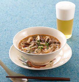 春雨の坦々スープ