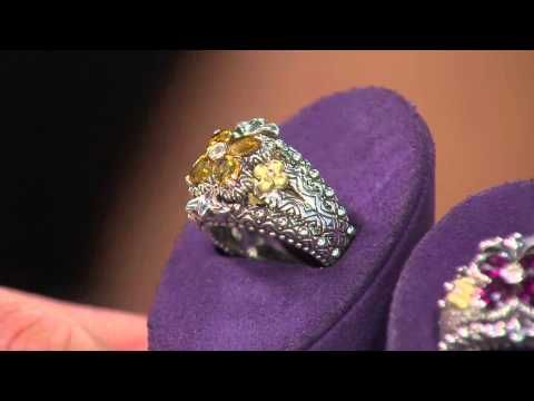 Ships 6/22 Barbara Bixby Sterling & 18K Gemstone Flower Ring with Nancy Hornback - YouTube