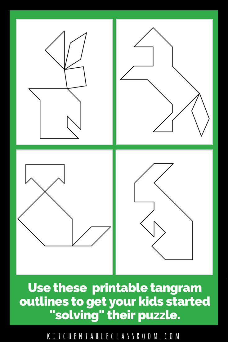 printable tangrams  an easy diy tangram template  the