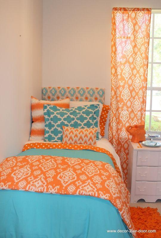 Design Your Own Dorm TXL Duvet Cover  Window panels  ~ 151144_Orange Dorm Room Ideas