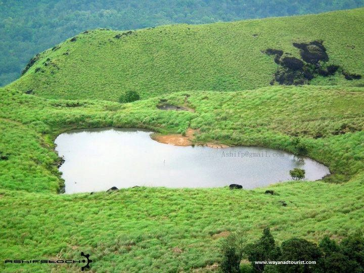 Natural Heart shaped pond at Chembra Peak... http://www.environmentccare.in