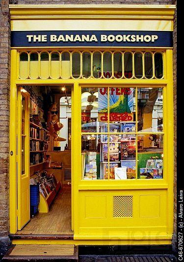 The Banana Bookshop. London. England