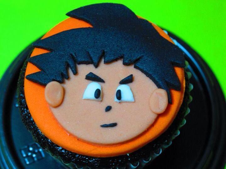 goku choco cupcake | my very own fondant (themed) cupcakes and ...