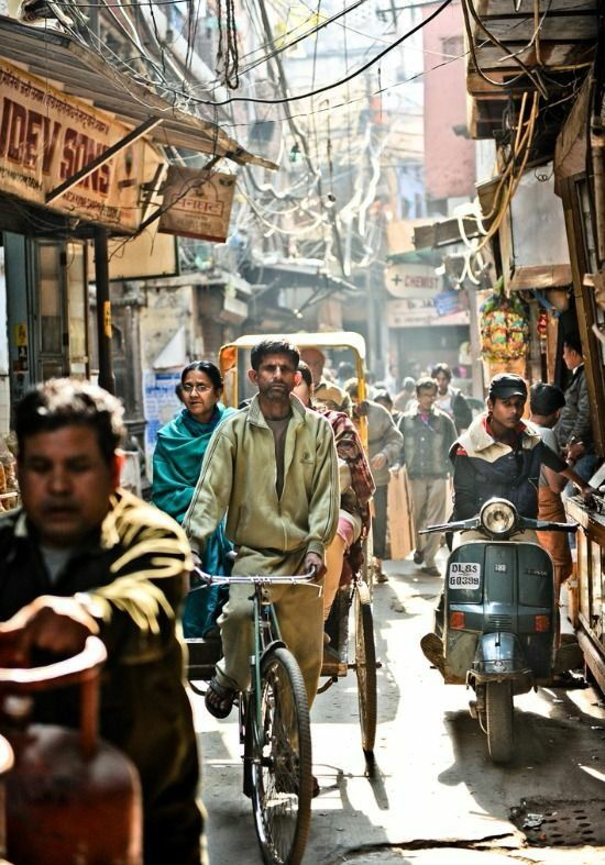 The streets of India are very crowded. One of the world's most crowded places is located in Chennai, India. The streets are filled with people trying to make a living by selling food, clothing, etc.