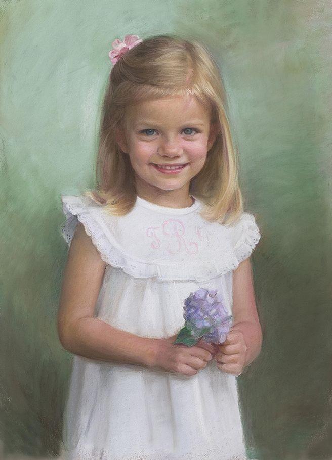 Gorgeous pastel portrait of a girl by a Portraits, Inc. artist