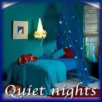 MOSQUITO NET WITH 10 GLOW IN THE DARK STARS ON This is a lovely mosquito net prefect for a single bed, looks so cute up with the glowing