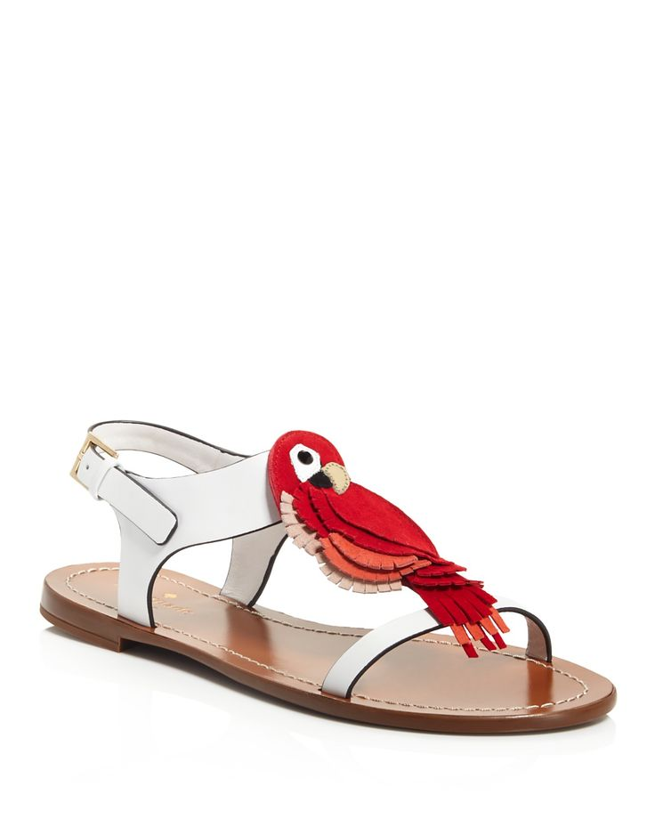 kate spade new york Charlie Parrot T Strap Sandals