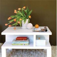 Make a coffee table at home. Easy tips to recycle a bedroom door into a coffee table with storage - build a coffee table
