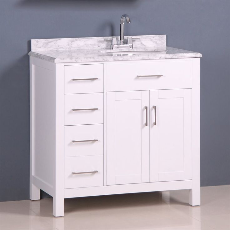 Shop Golden Elite  CAC36W 36-in Carrera Vanity at Lowe's Canada. Find our selection of bathroom vanities at the lowest price guaranteed with price match + 10% off.