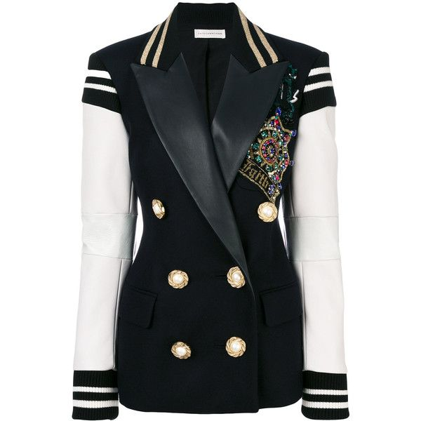 Faith Connexion embellished double breasted blazer (165.005 RUB) ❤ liked on Polyvore featuring outerwear, jackets, blazers, blazer, coats, blue, blue blazer jacket, faith connexion, faith connexion blazer and blue jackets