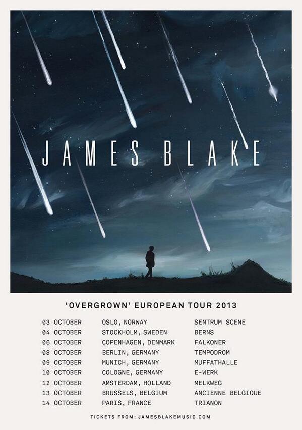 James Blake 'Overgrown' European Tour 2013