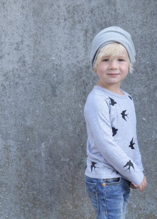 Kinder t-shirt met zwarte zwaluwen #tofshirt