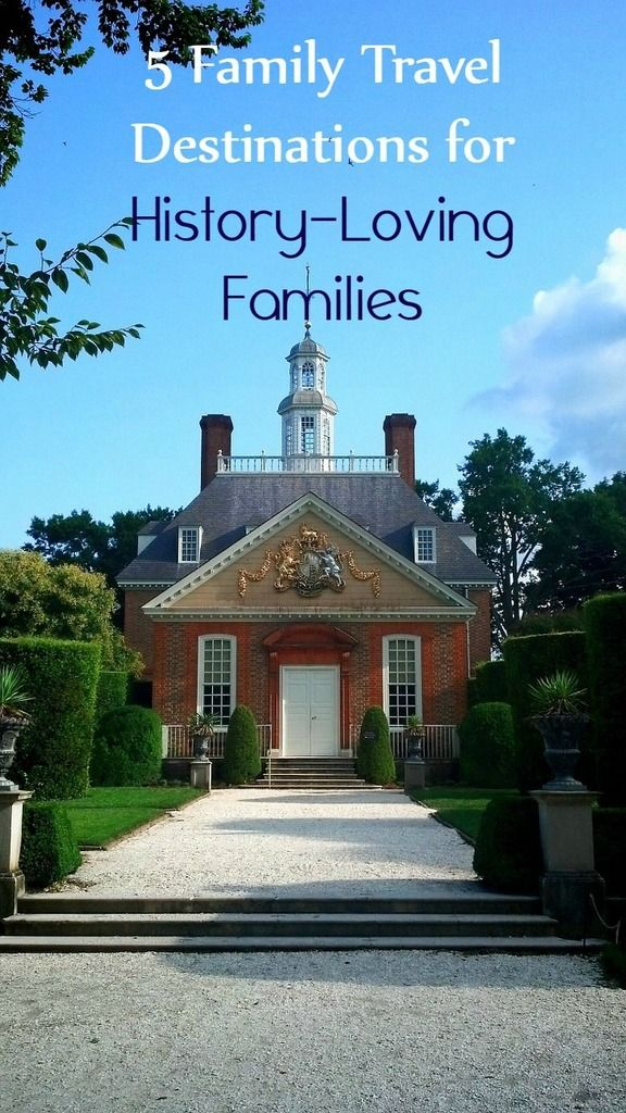 Got a history-loving family? Check out our favorite family travel destinations for those who want to learn more about the early American days.