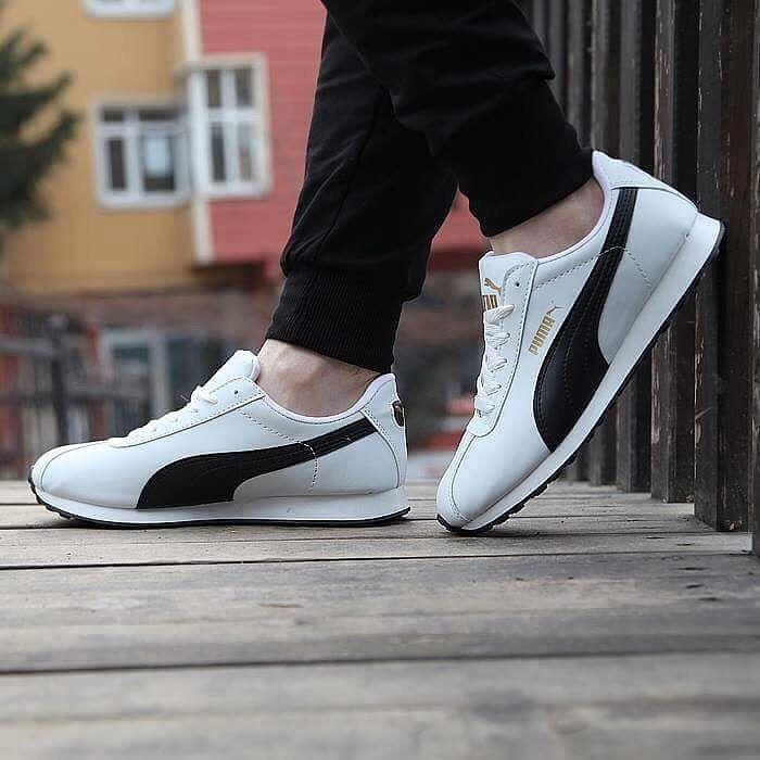 Puma Turin Beyaz Siyah Günlük Spor Ayakkabı Kadın-Erkek  WhatsApp Bilgi Hattı ve Sipariş : 0 (541) 2244 541  www.renkliayaklar.net