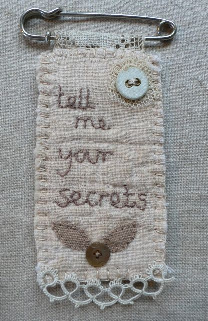 This blog - Gentlework - is so beautiful. like the idea but not what it says...k cool grimm and fairy craft, textile art jewellery accessory