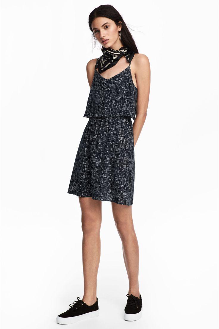 Vestido corto - Azul oscuro/Lunares - MUJER | H&M ES 1
