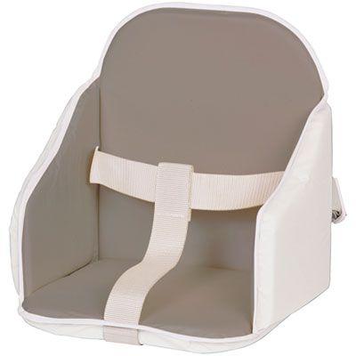 Candide Coussin de chaise pvc gris/blanc