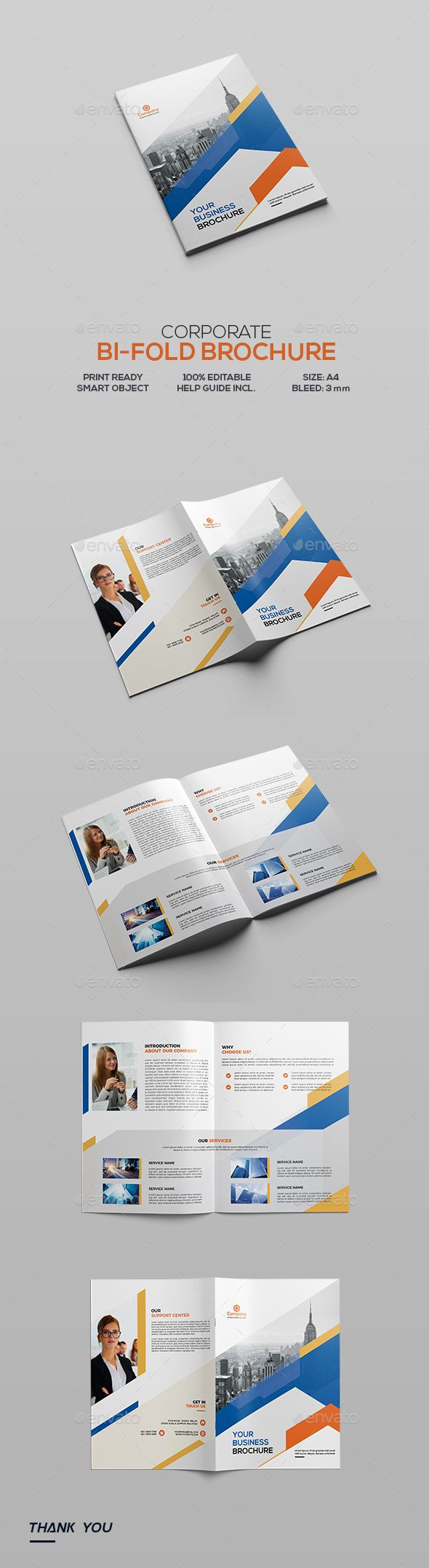 Corporate Bifold Brochure by GreenPixi Matching Flyer You May Like Other Corporate Bi-Fold Brochures! Below Corporate Bifold Brochure Promote Your Business with a mode