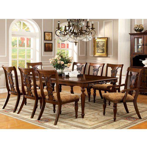 Furniture Of America Ella Formal Dark Oak Dining Set
