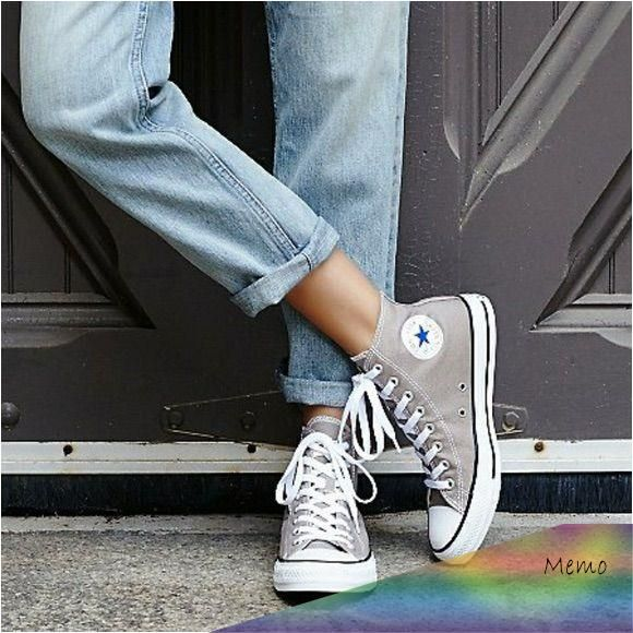 Jul 29, 2019 - Converse Shoes | Ice Gray High Top Converse | Color ...