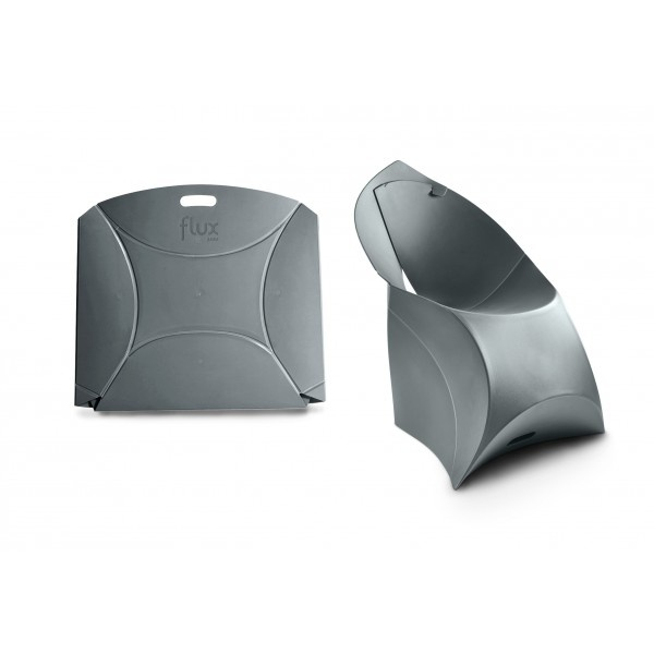 Židle flux pro děti antracitově šedá - složená i rozložená