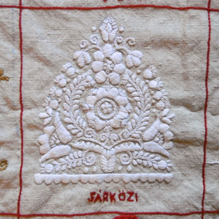 parna vintage linen and hemp: Hungarian Embroidery Sampler