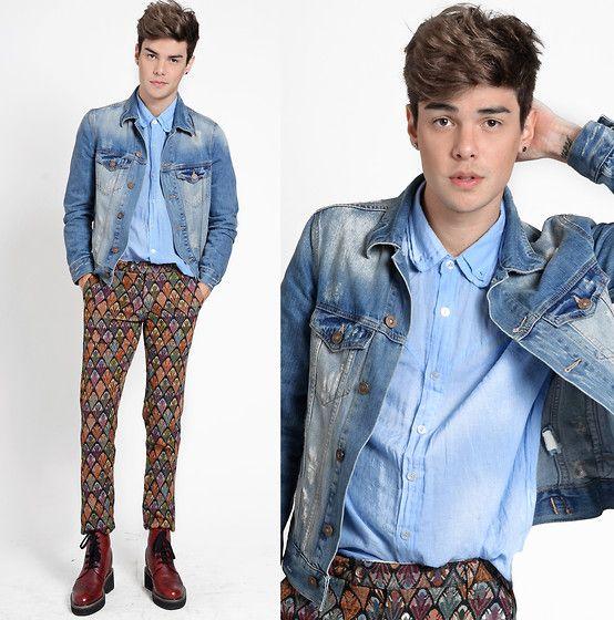 Mavi Denim Jacket, A Mulher Do Padre Amp Shirt, Choies Pants, Guidomaggi Shoes