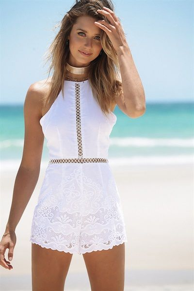 Aria Lace Playsuit - #SABOSKIRT