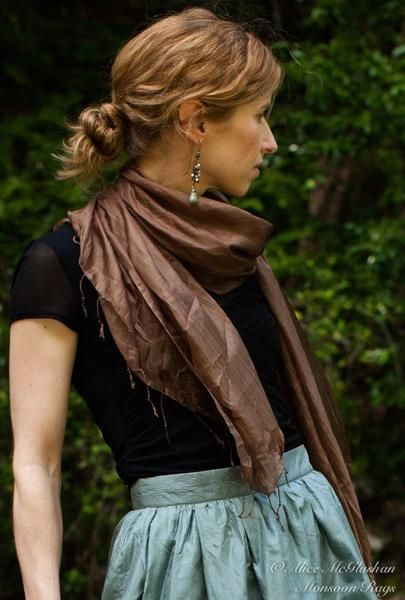 Designed with silk found in markets and alleys of Hoi An, Vietnam these scarves are the perfect complement to any fair trade styled outfit!