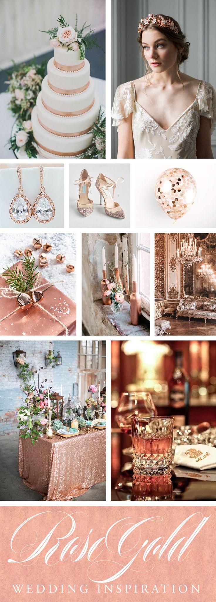 Rose Gold wedding color palette inspiration // www.chavelli.com